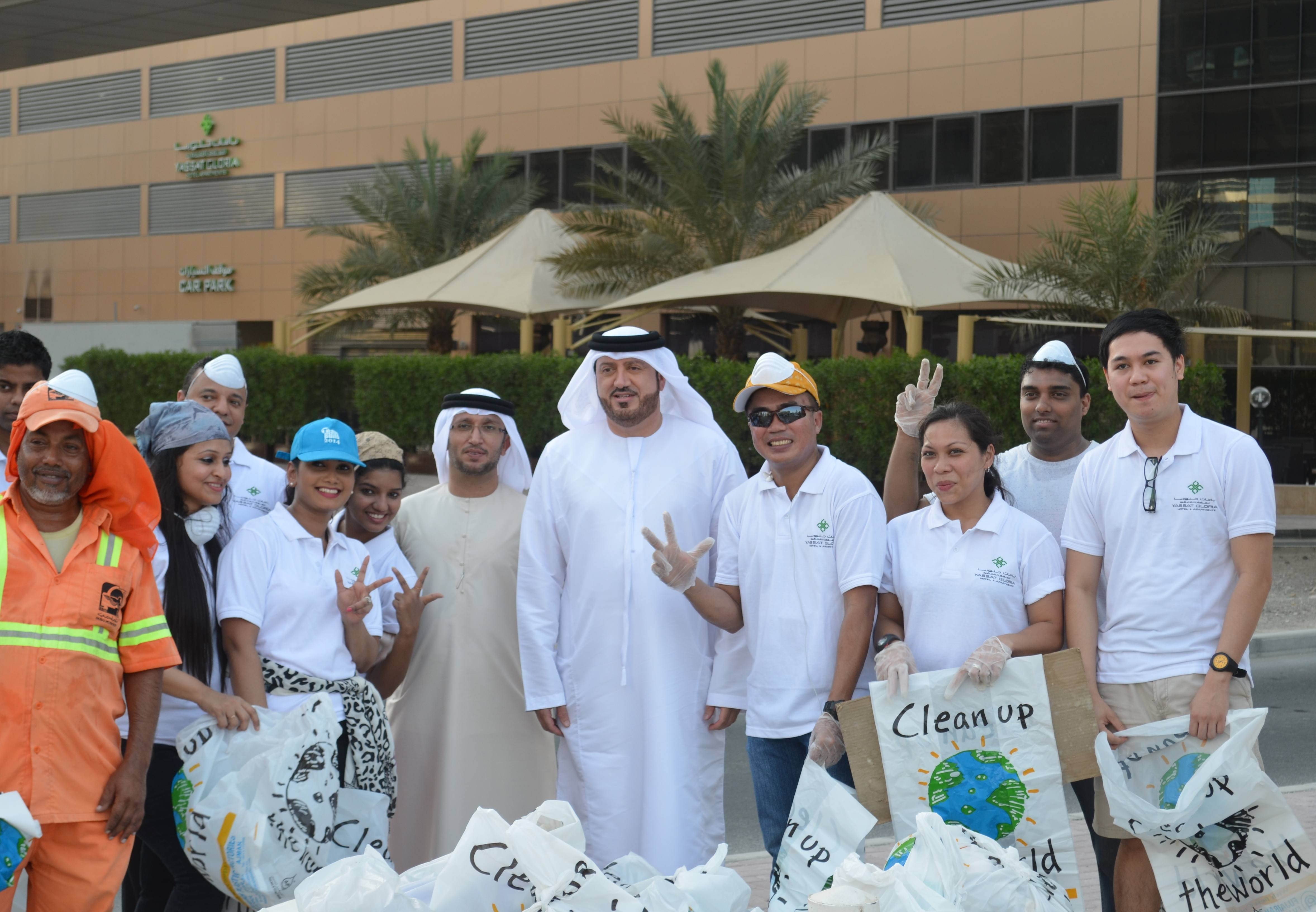 Yassat Gloria Hotel & Apartments clean up campaign